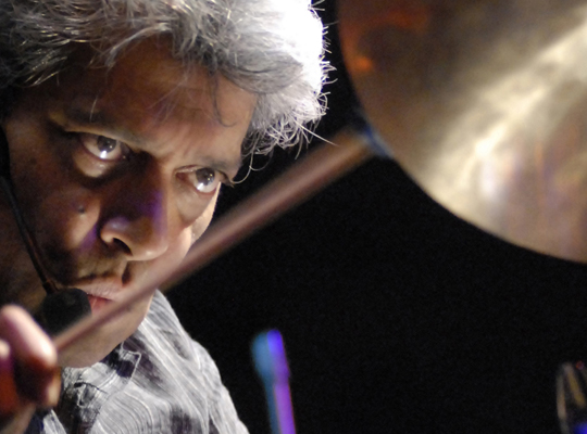 Master drummer Trilok Gurtu lust for eyes and ears